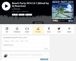 Beach Party 2014 Cd 1: Top 100 on Mixcloud rank